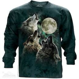 Adult Unisex Long Sleeve T-Shirts Wolf Collection